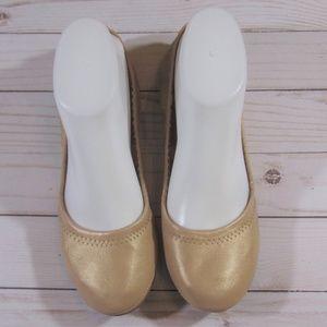 Lucky Brand Metallic Nude Sandals
